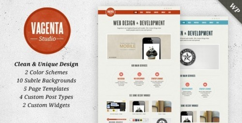 Vagenta - Clean and Unique WordPress Theme
