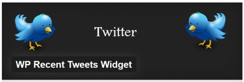 WP Recent Tweets Widget