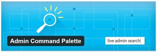 Admin Command Palette
