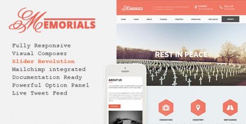 Memorials - Responsive Funeral WordPress Theme