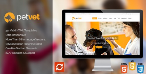 PetVet - Vet Pet Responsive WordPress Theme