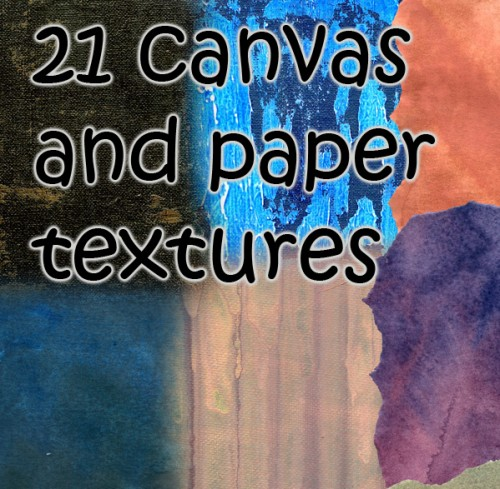 21 New Canvas and Paper Textures