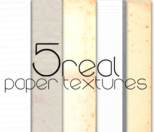 HQ Real Paper Textures