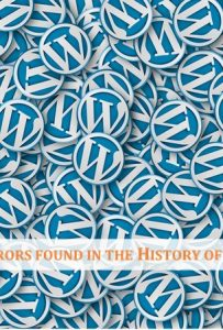 Common Errors Found in the History of WordPress